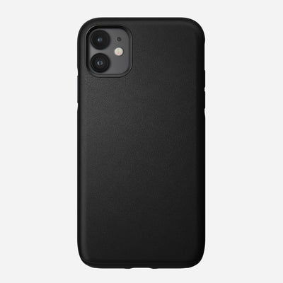 Active Rugged Leather Case for iPhone 11, Black