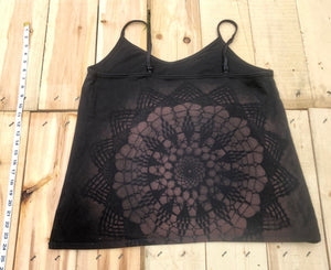 2XL Black Tank top with Sacred Geometric Designs One of a Kind