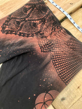 Load image into Gallery viewer, Large Black Sacred Geometry Leggings One of a Kind