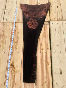 Large Black Sacred Geometry Leggings One of a Kind