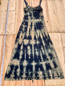 Small Navy Blue Maxi Dress One of a Kind