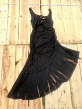 Load image into Gallery viewer, Large Black Maha Devi Sacred Geometry Dress One of a Kind