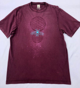 XL Purple Shroom T-shirt Hand designed artwork with Sacred Geometric Designs One of a Kind