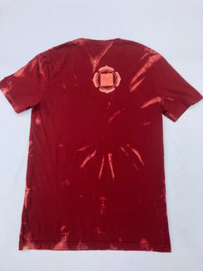 Small Red Chakra T-shirt Hand-designed artwork with Sacred Geometric Designs One of a Kind