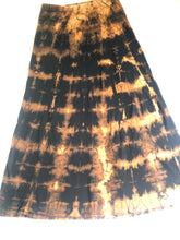 Load image into Gallery viewer, Small Black Maxi Skirt Upcycled with Shibori Technique One of a Kind