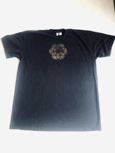 XL Black Sacred Geometry Tshirt One of a Kind