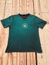 Load image into Gallery viewer, Large Pine Green T-Shirt Heart Chakra Mandala One of a Kind