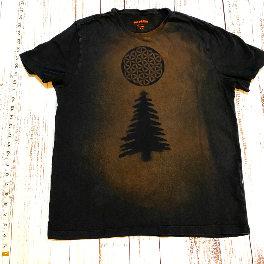 Medium Sacred Geometry Design T-shirt One of a Kind