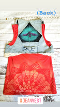 Load image into Gallery viewer, XS Jean Vest Space Bee Design Lace
