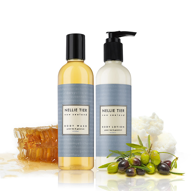 Body Wash 250ml + Body Lotion 250g