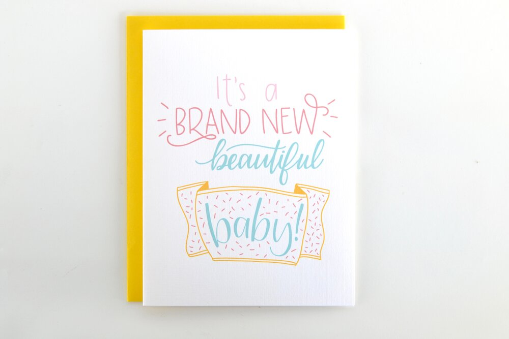 Brand New Beautiful Baby Card