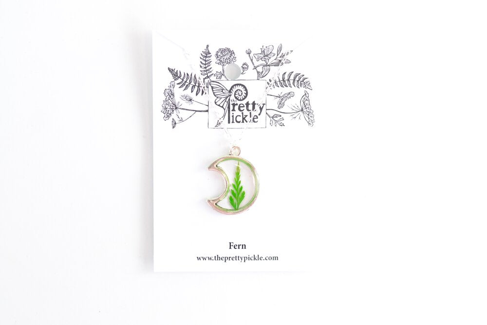 Fern Crescent Necklace