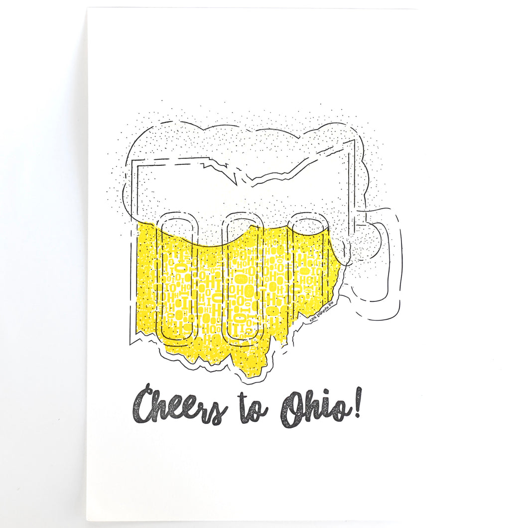 Cheers to Ohio Art Print