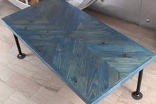 Load image into Gallery viewer, Handcrafted Chevron Coffee Table