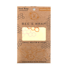 Load image into Gallery viewer, Bees Wrap- 3 Pack Assorted Sizes