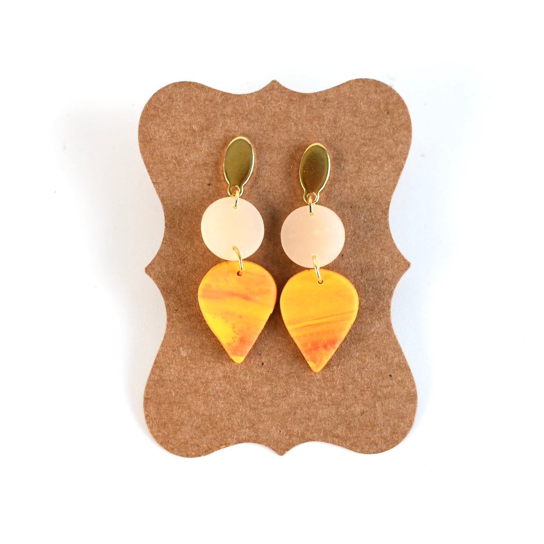 Sunfire Polymer Clay Earring Collection