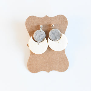 Peppered Moon Polymer Clay Earring Collection