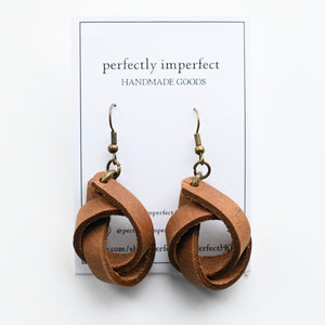 Classic Knot Leather Earrings Collection
