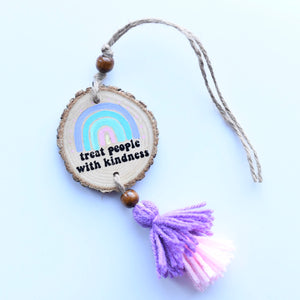Treat People with Kindness Car Charm