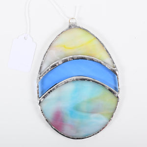 Large 3 Piece Easter Egg Stained Glass Suncatcher