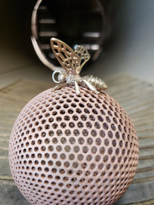 bronze bee pendant with bronze wings