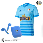 Pack Sporting Cristal: Camiseta Local 2017 + Audífonos Bluetooth Celeste
