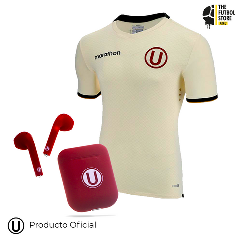 Pack Universitario: Camiseta Titular 2019 + Audífonos Bluetooth Granate