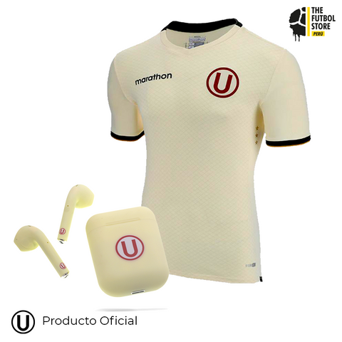 Pack Universitario: Camiseta Titular 2019 + Audífonos Bluetooth Crema