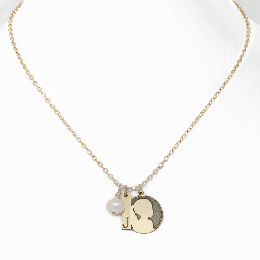Gold Charm Custom Pendant Necklace Initial Necklace Triple Initial Charm Necklace Initial Gold Rose Gold Silver Charm Necklace