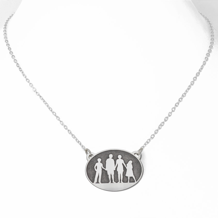 open family circle initial personalized necklace engraved products obsession