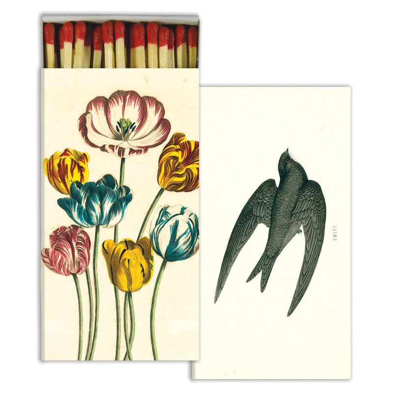 HomArt Matches - Variegated Tulips & Swift - Red