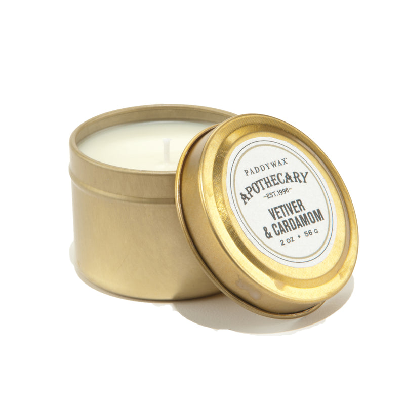 Paddywax Apothecary 2oz Gold Tin Candle