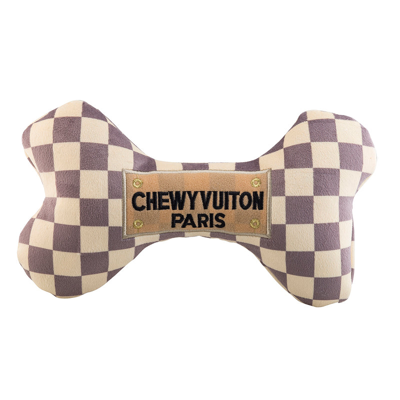 Haute Diggity Dog Checker Chewy Vuiton Bone Toy