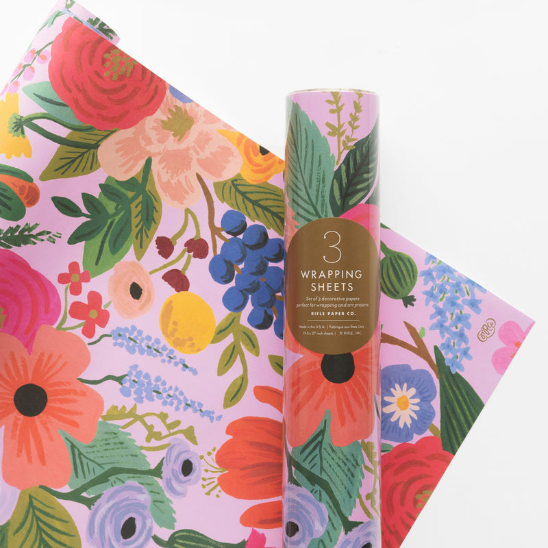 Rifle Paper Roll of 3 Wrapping Sheets