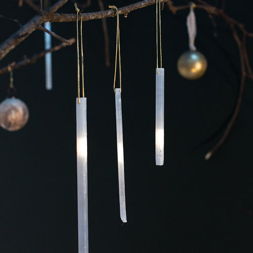 Accent Decor Selenite Icicle Ornament