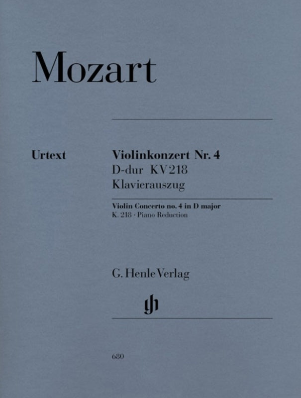 Mozart - Violin Concerto No. 4 in D major K. 218 (Urtext)