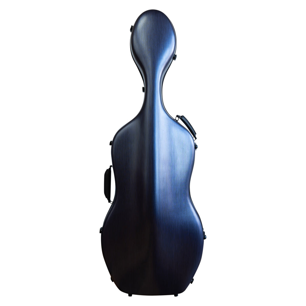 MJ Polycarbonate Cello Case with wheels - 1/2