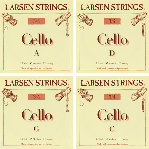 Larsen Cello, (Med) Set, 3/4