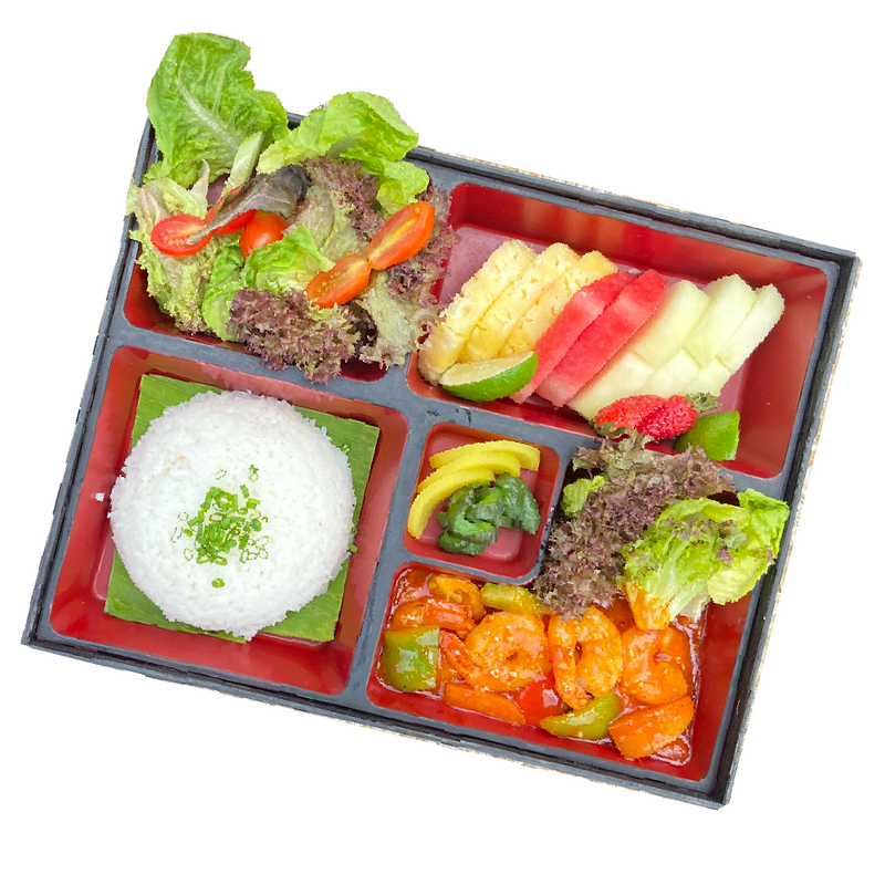 Sweet and Sour Prawn Bento