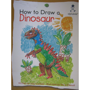 How to draw a dinosaur (Alphakids)