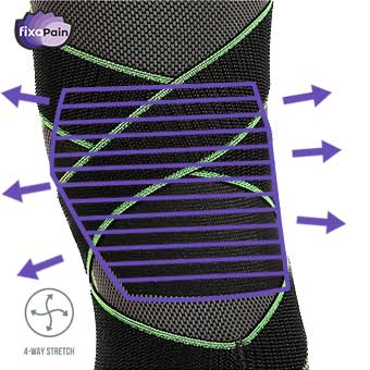 FixaPain knee support - 4 way stretch