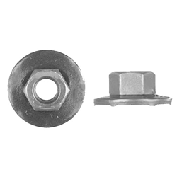 5915 - 6-1.00mm Hex Nut with Large Washer - 50 Pieces