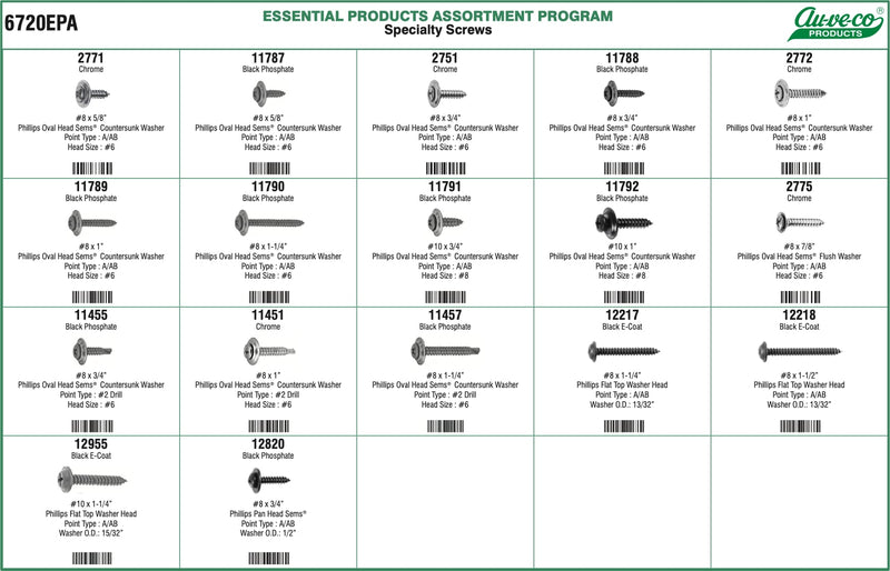 AV6720EPA - Specialty Screws Assortment