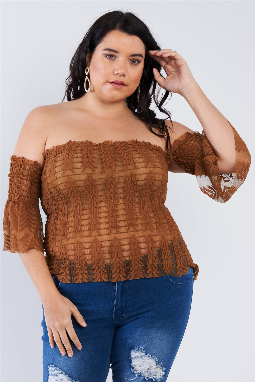 Off The Shoulder Plus Size Top - Shopninaruchi
