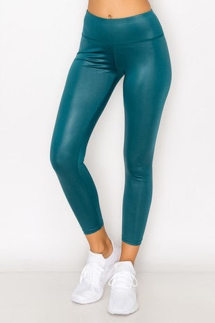 Glossy Turquoise Leggings