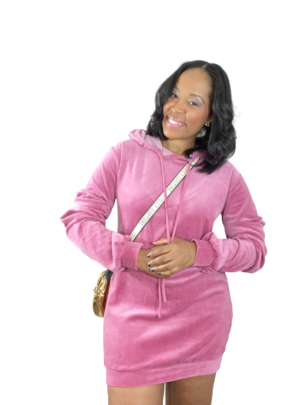 Pink Hooded Sweater Dress - Shopninaruchi