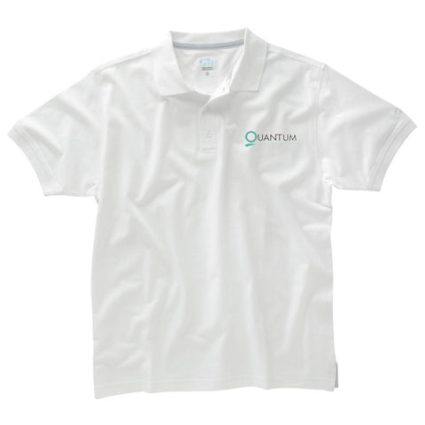 QUANTUM POLO SHIRT MENS AND WOMENS - WHITE OR BLACK