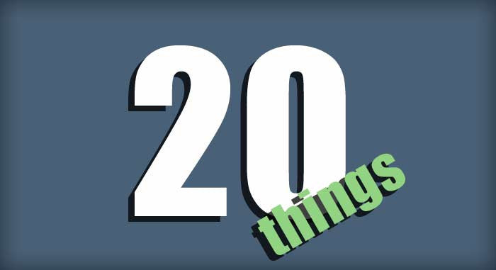 20 things you should do everyday