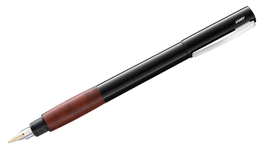 Accent - Brilliant Lacquer Fountain Pen (Grip Section: Briar Wood)