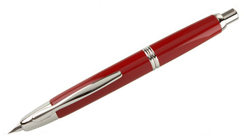 Capless Red Lacquer CT Fountain Pen